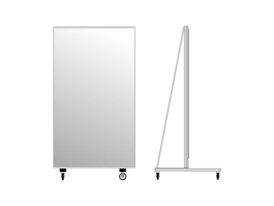 Lustro na k kach 100 cm z foli zabezpieczaj c for Miroir 100 x 200
